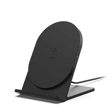 Belkin Chargeur à induction BOOST UP Stand 5 W (Noir) Chargeur à induction BOOST UP Qi 5 W - Mode Portrait - Certification Qi - Noir
