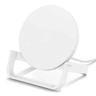 Belkin Chargeur à induction 10 W Stand (Blanc) Chargeur à induction BOOST UP Qi - 10 W - rechargement en mode portrait et paysage - compatibilité Quick Charge 3.0 - compatibilité complète iPhone 7.5W