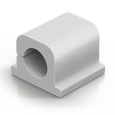 Durable Cavoline Clip Pro 1 Gris Clip adhésif en plastique pour gestion de câble (lot de 6)