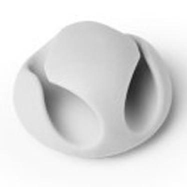 Durable Cavoline Clip 2 Gris Clip adhésif double fente en plastique pour gestion de câbles (lot de 6)