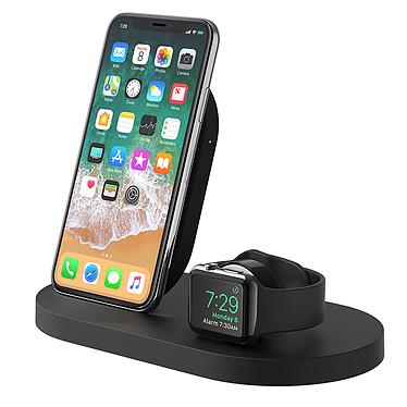 Belkin Station de recharge BOOST UP pour Apple Watch et iPhone Station de rechargement pour appareils Apple - Fonctionnement à induction - Port USB-A - Rechargement de 3 appareils en simultané