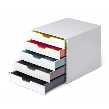 DURABLE VARICOLOR Mix 5 Module de rangement 5 tiroirs - Gris/Multicolore