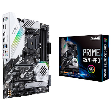 ASUS PRIME X570-PRO Carte mère ATX Socket AM4 AMD X570 - 4x DDR4 - SATA 6Gb/s + M.2 - USB 3.1 - 3x PCI-Express 4.0 16x