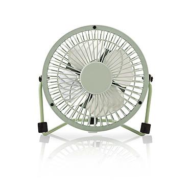 Nedis Mini-Fan (Vert) Ventilateur de bureau en métal sur port USB - Ø10 cm - Vert