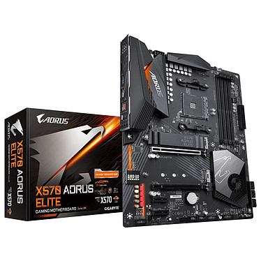 Gigabyte X570 AORUS ELITE Carte mère ATX Socket AM4 AMD X570 - 4 x DDR4 - SATA 6Gb/s + M.2 - USB 3.1 - 2x PCI-Express 4.0 16x