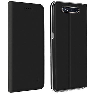 Akashi Etui Folio Porte Carte Noir Samsung Galaxy A80