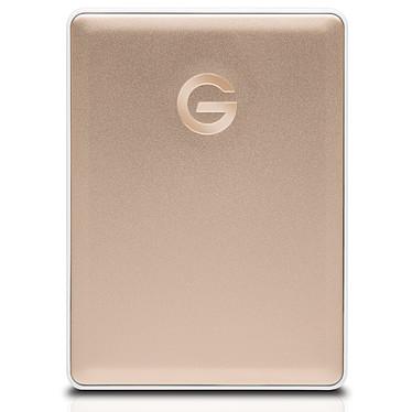 """G-Technology G-Drive Mobile USB-C 2 To Doré Disque dur externe 2.5"""" formaté pour Mac sur port USB-C 3.1 Gen 1 (3.0) - Compatible Windows après reformatage"""