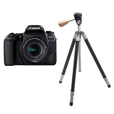 """Canon EOS 77D + 18-55 IS STM + Cokin T-RIV101 Riviera Classic Reflex Numérique 24.2 MP - Ecran tactile orientable 3"""" - Dual AF - Vidéo Full HD 60p - Wi-Fi/NFC - Bluetooth + Objectif EF-S 18-55 mm f/4-5.6 IS STM + Trépied aluminium 3 sections (jusqu'à 5 kg)"""