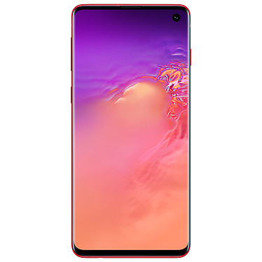 "Samsung Galaxy S10+ SM-G975F Rouge (8 Go / 128 Go) Smartphone 4G-LTE Advanced Dual SIM IP68 - Exynos 9820 8-Core 2.8 GHz - RAM 8 Go - Ecran tactile Super AMOLED 6.4"" 1440 x 3040 - 128 Go - NFC/Bluetooth 5.0 - 4100 mAh - Android 9.0"