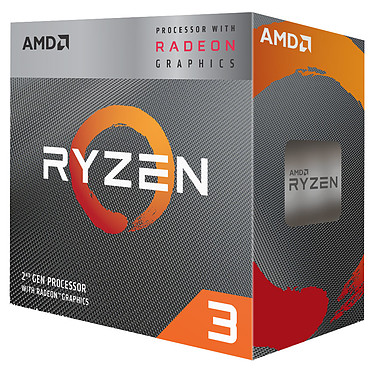 AMD Ryzen 3 3200G Wraith Stealth Edition (3.6 GHz / 4 GHz) Processeur Quad Core socket AM4 Cache L3 4 Mo Radeon Vega Graphics 8 12 nm TDP 65W avec système de refroidissement (version boîte - garantie constructeur 3 ans)