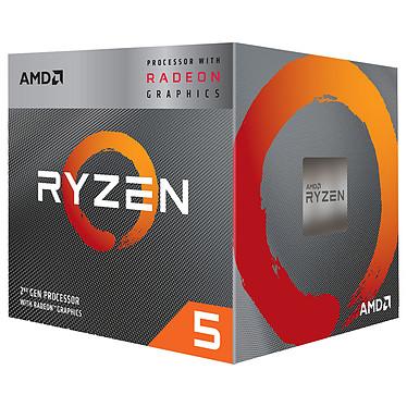 AMD Ryzen 5 3400G Wraith Spire Edition (3.7 GHz / 4.2 GHz) avec mise à jour BIOS Processeur Quad Core socket AM4 Cache L3 4 Mo Radeon Vega Graphics 11 12 nm TDP 65W avec système de refroidissement (version boîte - garantie constructeur 3 ans)