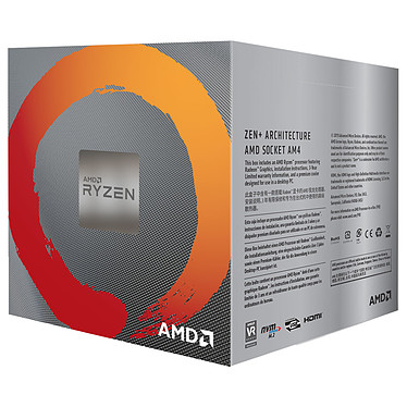 Avis AMD Ryzen 5 3400G Wraith Spire Edition (3.7 GHz / 4.2 GHz)