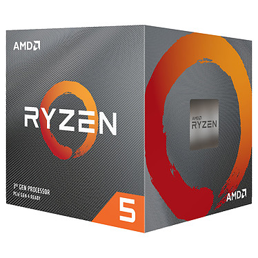AMD Ryzen 5 3600X Wraith Spire (3.8 GHz / 4.4 GHz) avec mise à jour BIOS Processeur 6-Core socket AM4 GameCache 35 Mo 7 nm TDP 95W avec système de refroidissement (version boîte - garantie constructeur 3 ans)