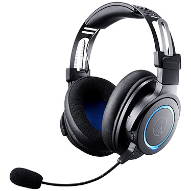 Audio-Technica ATH-G1WL Micro-casque circumaural fermé sans fil pour gamer - Son surround virtuel - Microphone amovible - Autonomie 15h (PC/Mac)