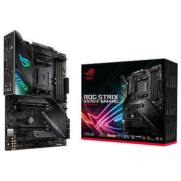 ASUS ROG STRIX X570-F GAMING Carte mère ATX Socket AM4 AMD X570 - 4x DDR4 - SATA 6Gb/s + M.2 - USB 3.1 - 3x PCI-Express 4.0 16x