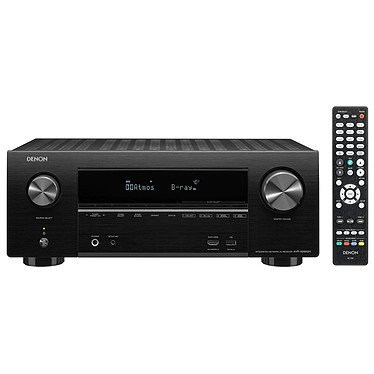 Denon AVR-X2600H Noir Ampli-tuner Home Cinema 3D Ready 7.2 - Dolby Atmos / DTS:X - 8x HDMI 4K Ultra HD, HDCP 2.3, HDR - Wi-Fi, Bluetooth, AirPlay 2 - Multiroom - Amazon Alexa / Google Assistant