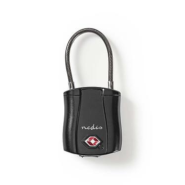 Nedis Bluetooth Luggage Lock Cadenas sans fil Bluetooth homologué TSA (compatible Android et iOS)