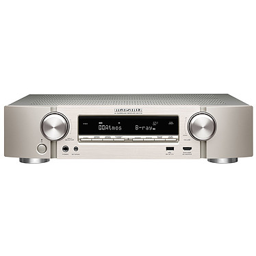 Marantz NR1710 Argent/Or Ampli-tuner Home Cinema Slim 3D Ready 7.2 - 90W/canal - Dolby Atmos/DTS:X - Virtualisation Surround - 8x HDMI 4K UHD, HDCP 2.3 - HDR10/HLG/Dolby Vision - Multiroom - Wi-Fi/Bluetooth/DLNA/AirPlay 2 - Amazon Alexa/Google Assistant