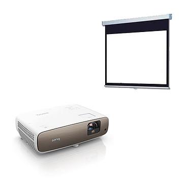BenQ W2700 + LDLC Ecran manuel - Format 16:9 - 220 x 124 cm