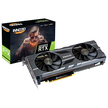 INNO3D GeForce RTX 2070 SUPER TWIN X2 OC 8 Go GDDR6 - HDMI/Tri DisplayPort - PCI Express (NVIDIA GeForce RTX 2070 SUPER)