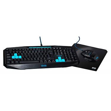 Bluestork Pack Gaming Triple Play Teclado (QWERTY, Español)  + ratón óptico + alfombrilla de ratón para gamer