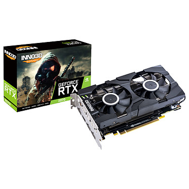 INNO3D GeForce RTX 2070 TWIN X2 8 Go GDDR6 - HDMI/Tri DisplayPort - PCI Express (NVIDIA GeForce RTX 2070)