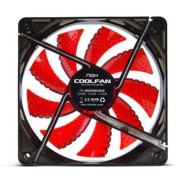Nox Coolfan 120 LED Rojo Ventilador de caja 120 mm con LED rojos