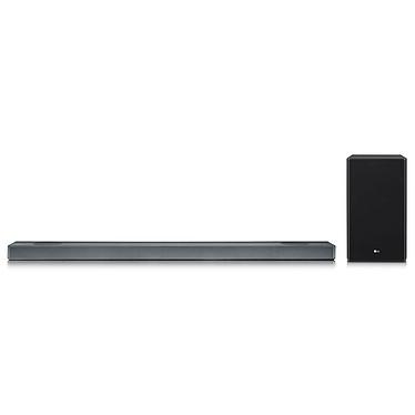 LG SL9YG Barre de son 4.1.2 500 W - Dolby Atmos - Technologie Meridian - Hi-Res Audio - Wi-Fi/Bluetooth 4.2 - ChromeCast - HDMI 4K HDCP 2.2 - Assistant Google intégré - Caisson de basses sans fil