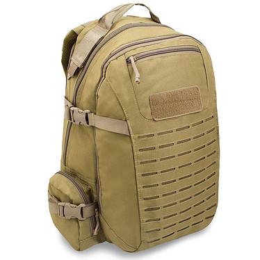 Bulldog Tactical Gear Lone Wanderer (Coyote) Sac à dos militaire tactique - conception haute-qualité - capacité 34 litres - compartiments pour ordinateur portable et accessoires - compatible système de fixation MOLLE