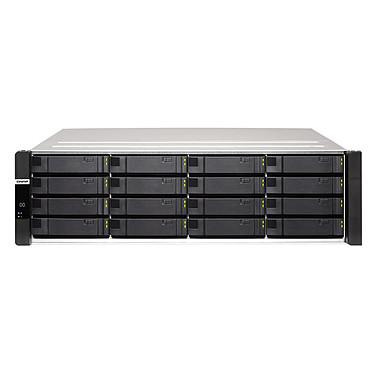 """QNAP ES1686DC-2145NT-96G Serveur NAS professionnel 16 baies SATA 6 Gbps (16 x 3.5"""" HDD / 4 x 2.5"""" SSD) compatible SAS 12 Gbps avec alimentation redondante et 96GB DDR4"""