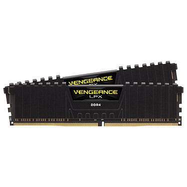 Corsair Vengeance LPX Series Low Profile 64 Go (2 x 32 Go) DDR4 2400 MHz CL16 RAM DDR4 PC4-19200 - CMK64GX4M2A2400C16 (garantie à vie par Corsair)