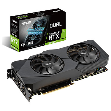 ASUS GeForce RTX 2070 SUPER DUAL-RTX2070S-O8G-EVO 8 Go GDDR6 - HDMI/Tri DisplayPort - PCI Express (NVIDIA GeForce RTX 2070 SUPER)