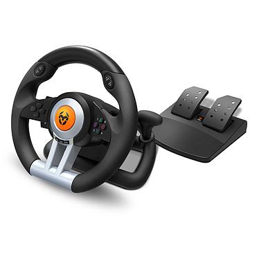 KROM K-Wheel Juego de volante y pedales compatible con PC / PlayStation 3 (PS3) / PlayStation 4 (PS4) + XBOX ONE