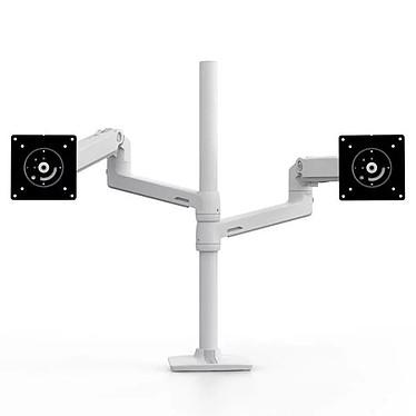 """Ergotron Bras LX Double Colonne Haute Blanc Bras LX bi-écran, superposés ou juxtaposés de 40"""", ajustable avec colonne haute"""