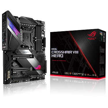 ASUS ROG CROSSHAIR VIII HERO Carte mère ATX Socket AM4 AMD X570 - 4x DDR4 - SATA 6Gb/s + M.2 - USB 3.1 - 3x PCI-Express 4.0 16x - LAN 2.5 GbE