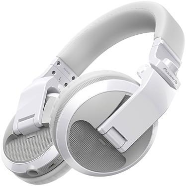 Pioneer DJ HDJ-X5BT Blanc Casque DJ circum-aural fermé sans fil - Bluetooth 4.2 - Microphone - Autonomie 20 heures