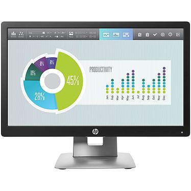 "HP 20"" LED - EliteDisplay E202 1600 x 900 pixels - 7 ms (gris à gris) - Format large 16/9 - Dalle IPS - DisplayPort - HDMI - Pivot - Hub USB - Noir/Argent"