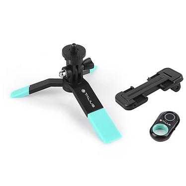 Talius kit tripode selfie bluetooth TAL-TRI01 - Azul Trípode rígido para smartphones, adaptador y mando Bluetooth
