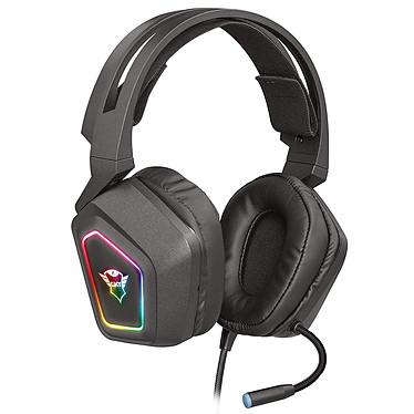Trust Gaming GXT 450 Blizz Casque-micro gamer - circum-aural fermé - son surround 7.1 - microphone flexible - USB - rétro-éclairage RGB