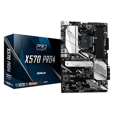 ASRock X570 Pro4 Carte mère ATX Socket AM4 AMD X570 - 4x DDR4 - SATA 6Gb/s + M.2 - USB 3.1 - 2x PCI-Express 4.0 16x