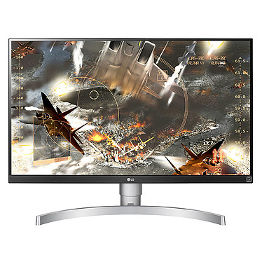 "LG 27"" LED 27UL650-W 3840 x 2160 píxeles - 5 ms - Formato ancho 16/9 - Pivote - Panel IPS - HDR - FreeSync - HDMI - Display Port - Negro/Plata"