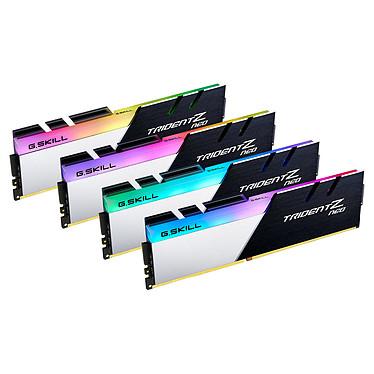 G.Skill Trident Z Neo 32 Go (4x 8 Go) DDR4 3600 MHz CL14 Kit Quad Channel 4 barrettes de RAM DDR4 PC4-28800 - F4-3600C14Q-32GTZN avec LED RGB
