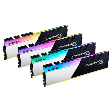 G.Skill Trident Z Neo 32 Go (4x 8 Go) DDR4 3600 MHz CL16 Kit Quad Channel 4 barrettes de RAM DDR4 PC4-28800 - F4-3600C16Q-32GTZNC avec LED RGB