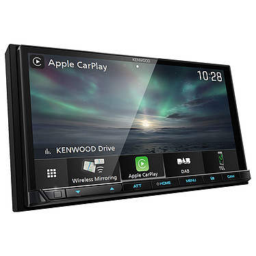 "Kenwood DMX8019DABS Autoradio FM / MP3 / DAB+ avec écran tactile 7.0"", Bluetooth, Apple CarPlay, Android Auto via USB, App Spotify accès direct"
