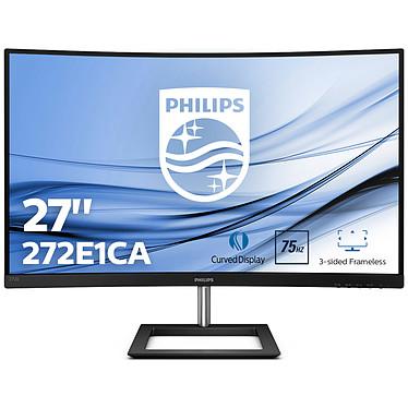 """Philips 27"""" LED - 272E1CA 1920 x 1080 pixels - 4 ms (gris à gris) - Format large 16/9 - Dalle VA incurvée - 75 Hz - Adaptive Sync - HDMI / VGA - Noir"""