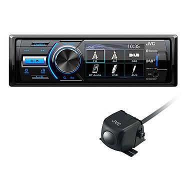 JVC KD-X561DB + KV-CM30 Autoradio avec Caméra de Recul - MP3 / FM / DAB+ pour iPod/iPhone, Android avec Bluetooth port USB et entrée AUX