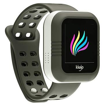 KiwipWatch Gris Montre téléphone pour enfant avec écran tactile couleur, Bluetooth compatible iOS, Android