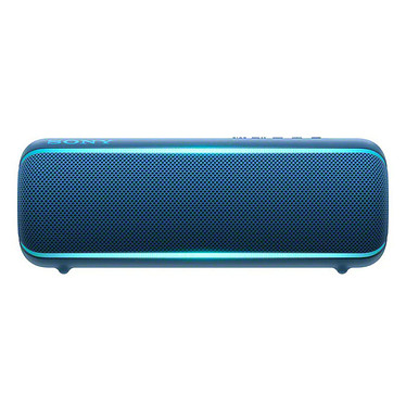 Sony SRS-XB22 Bleu Enceinte portable sans fil IP67 avec Extra Bass, Live Sound, Party Booster, NFC et Bluetooth