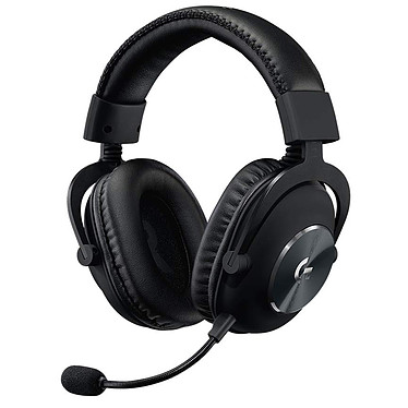 Logitech G Pro X Gaming Headset Noir Casque gaming filaire - circum-aural fermé - DTS Headphone:X 2.0 - microphone unidirectionnel à technologie Blue Vo!ce - mousse à mémoire de forme