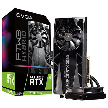 EVGA GeForce RTX 2080 SUPER FTW3 HYBRID GAMING 8 Go GDDR6 - HDMI/Tri DisplayPort/USB Type-C - PCI Express (NVIDIA GeForce RTX 2080 SUPER)